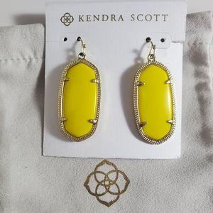 Kendra Scott Yellow Elle Earrings